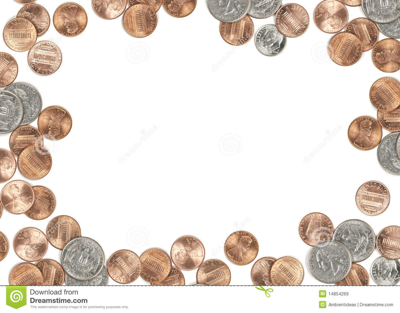 Silver Photo Frames Australia Us Coin Currency Border Stock Image Image Of Earnings