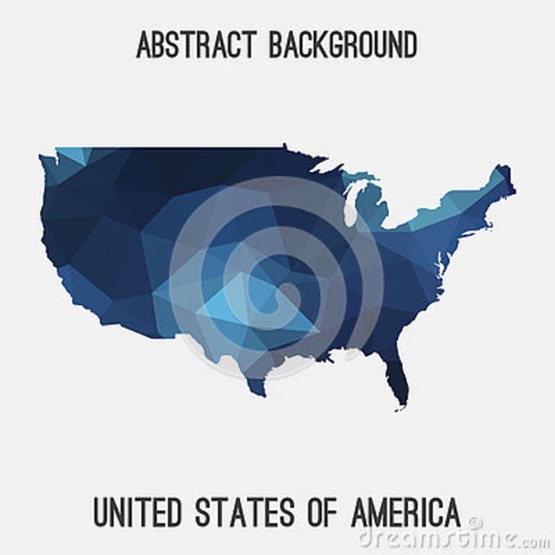 USA abstract map stock illustration Illustration of north - 79677184