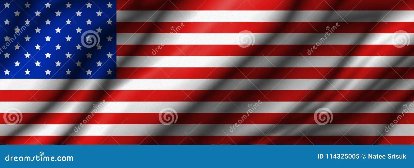 USA Or America Flag Background Stock Illustration - Illustration of