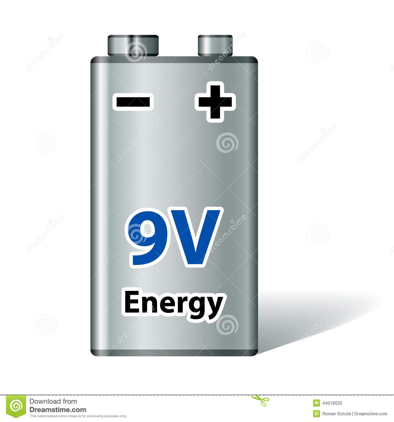 Batterie 9v 9v Square Battery Stock Vector Image Of Accumulator