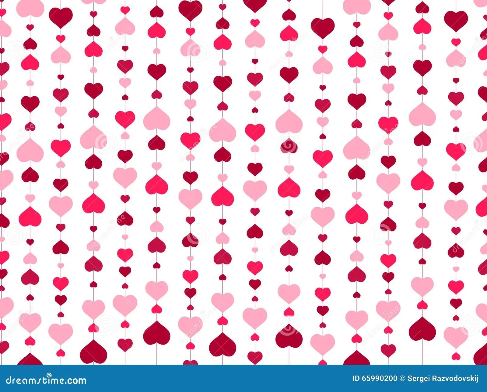 Wallpaper San Valentin 3d Valentine Day Heart Background Stock Vector Illustration