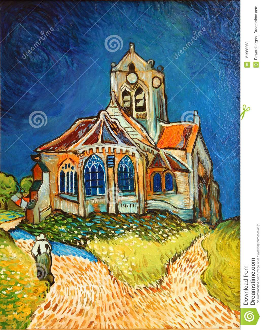 Vang Gogh Cuadros Van Gogh Church Painting Editorial Stock Photo Image Of Painting