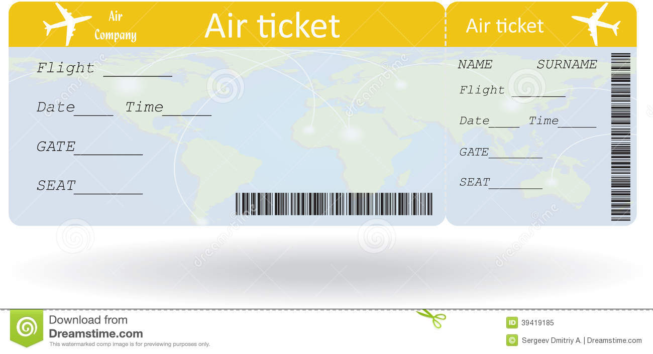 Create Your Own Airline Ticket Pictures to Pin – Fake Plane Ticket Template