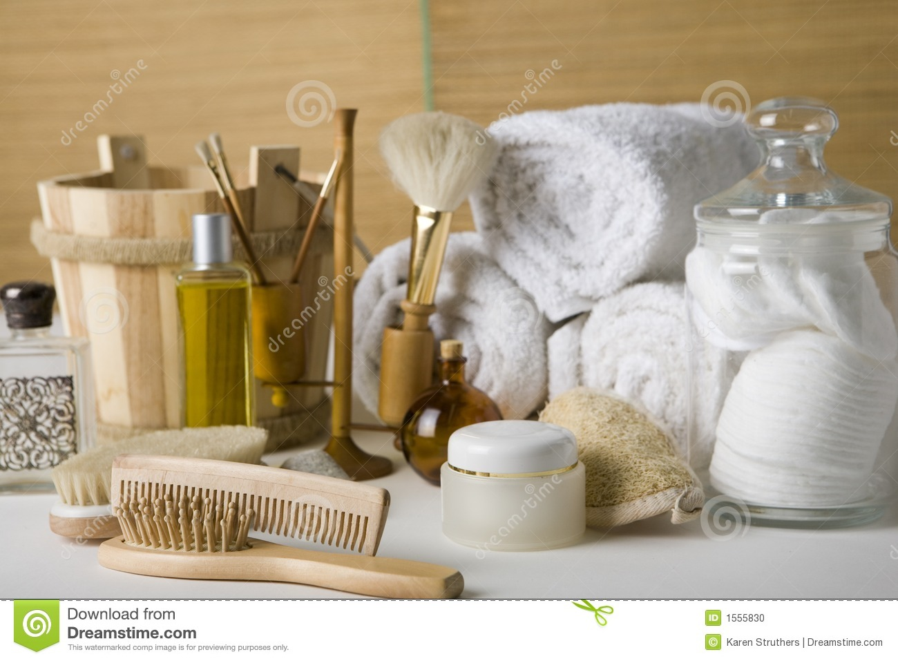 Bathroom Products Various Bathroom Products Stock Photo Image 1555830