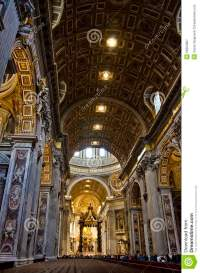 Vatican Inside Beautiful Ceiling Dome Rome Italy Stock ...