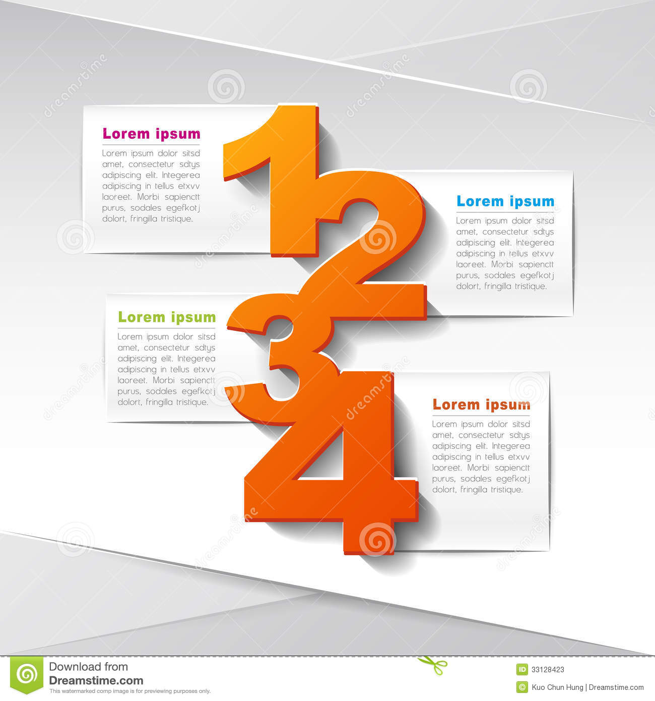 Infographic Five Step 3d Triangle Arrow Stock Vector Auto Trailer Wiring Harness Chanchito Abstract Paper Infographics Photos