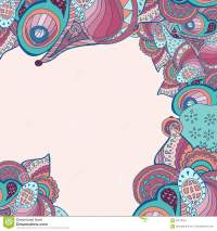 Vector Abstract Doodle Psychedelic Border Stock Vector ...
