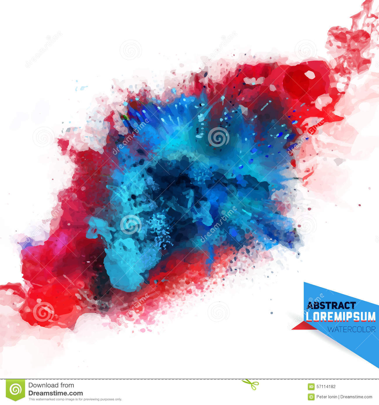 Holi Wallpaper 3d Vector Abstraction From A Mixture Of Colors Stock Vector