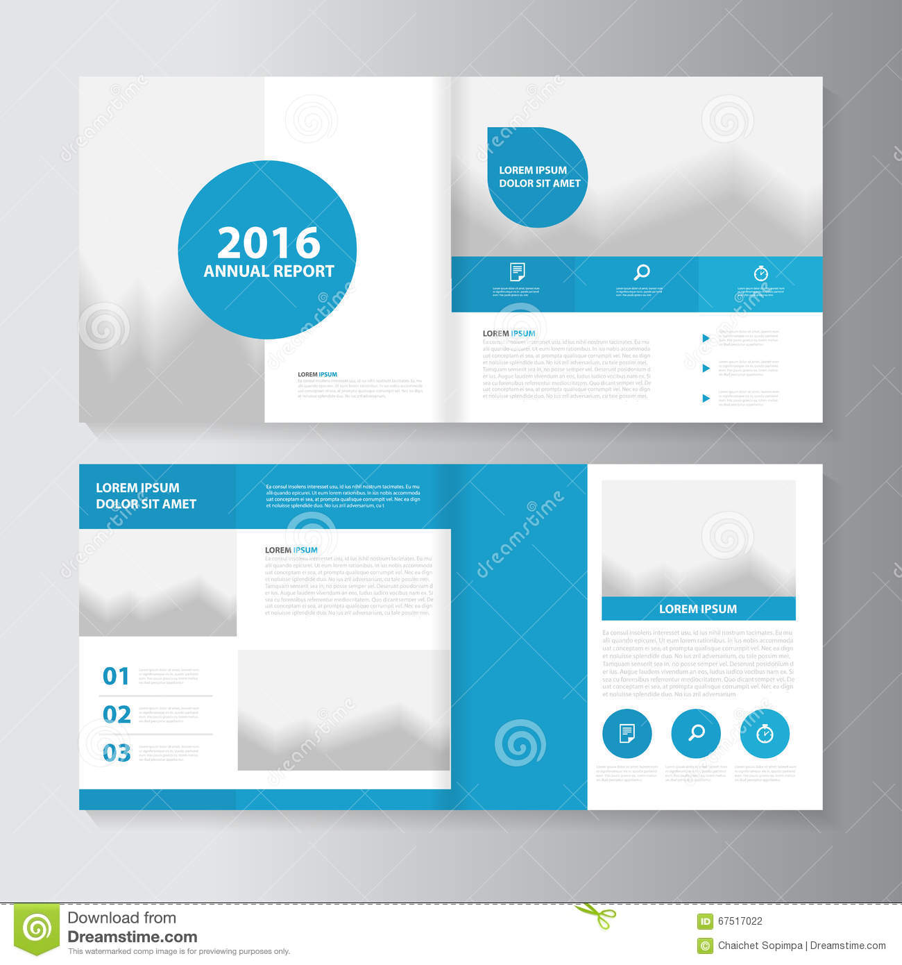 Vector annual report leaflet brochure flyer template