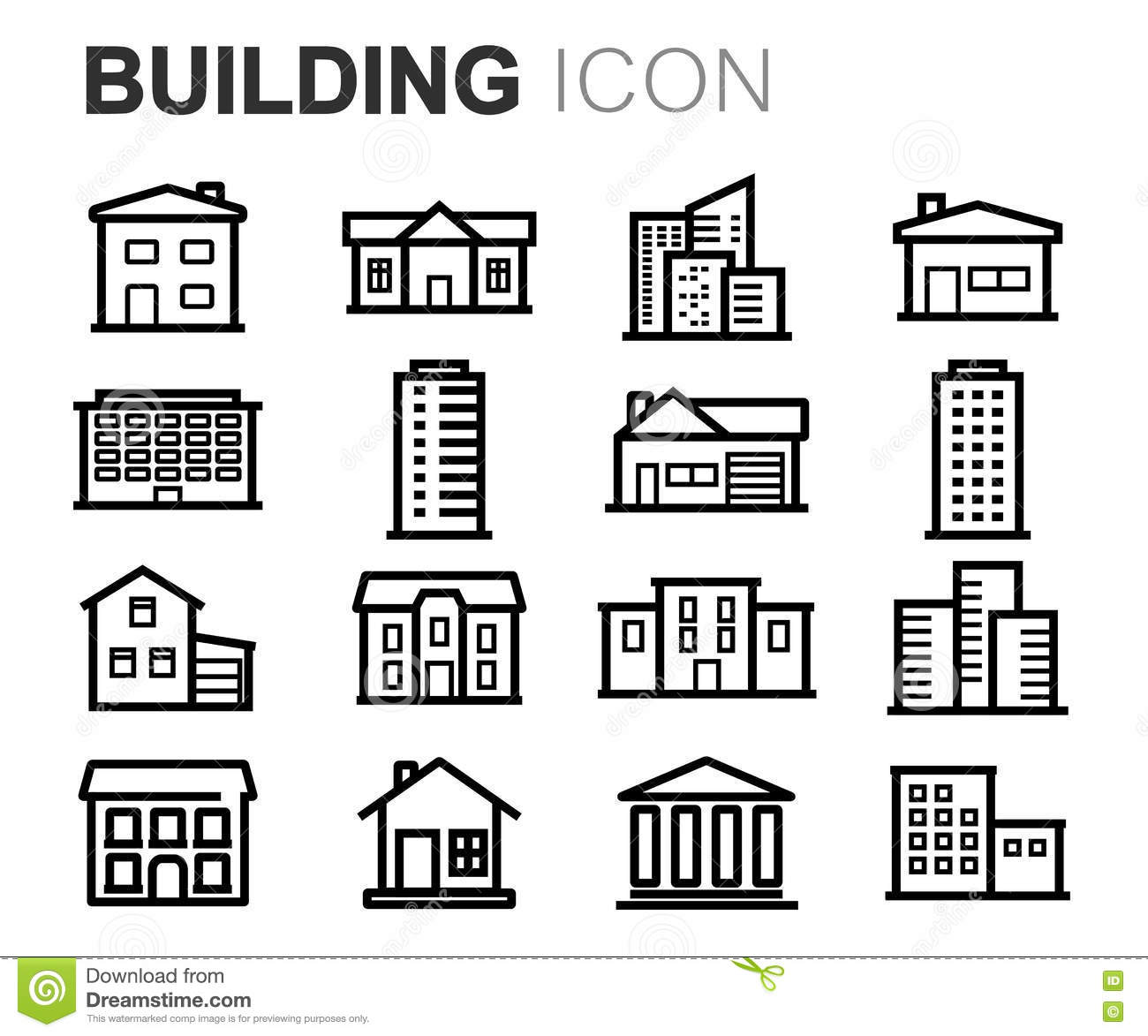 Swell Government Buildings Black And White Icons Stock Vector Auto Wiring Cloud Inamadienstapotheekhoekschewaardnl