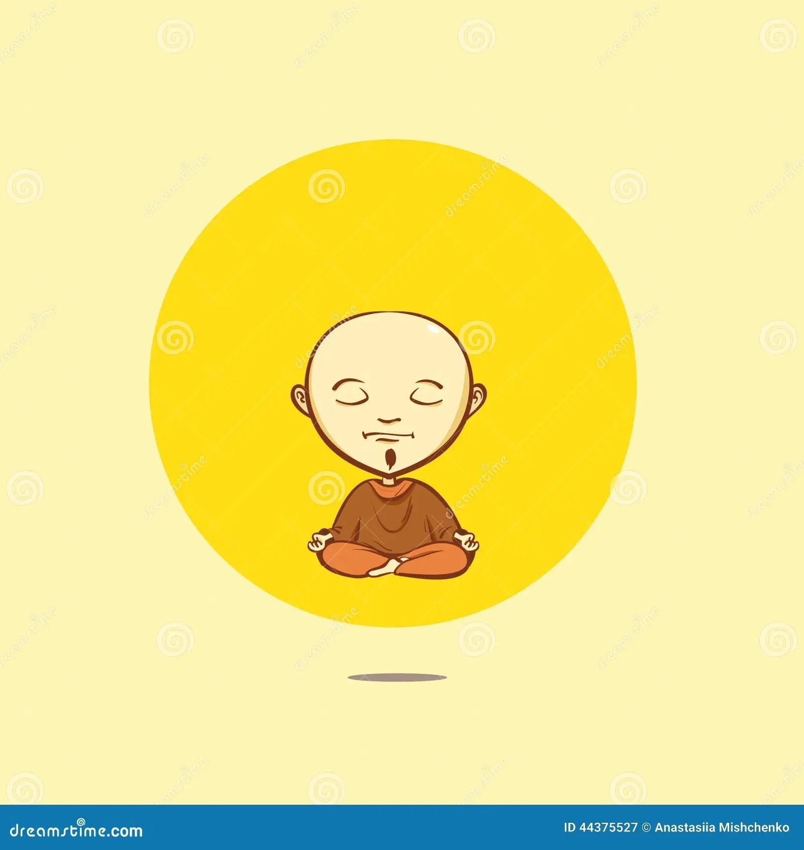 Cute Cartoon Boy Wallpaper Vector Cartoon Buddhist Monk Stock Vector Image 44375527