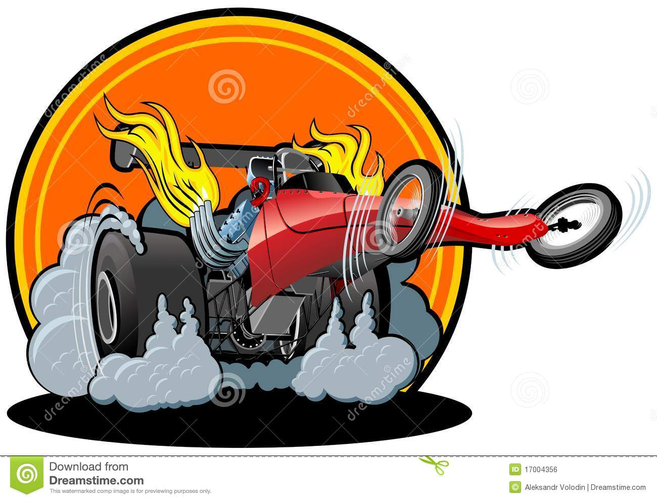 Muscle Cars Burnout Wallpapers Vector Cartoon Dragster Stock Vector Illustration Of