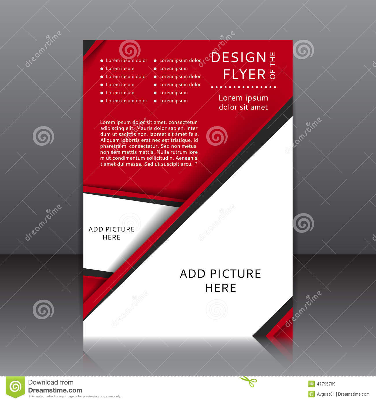 Flyer Ideas Vector Design Of The Red Flyer With Black Elements And Places For