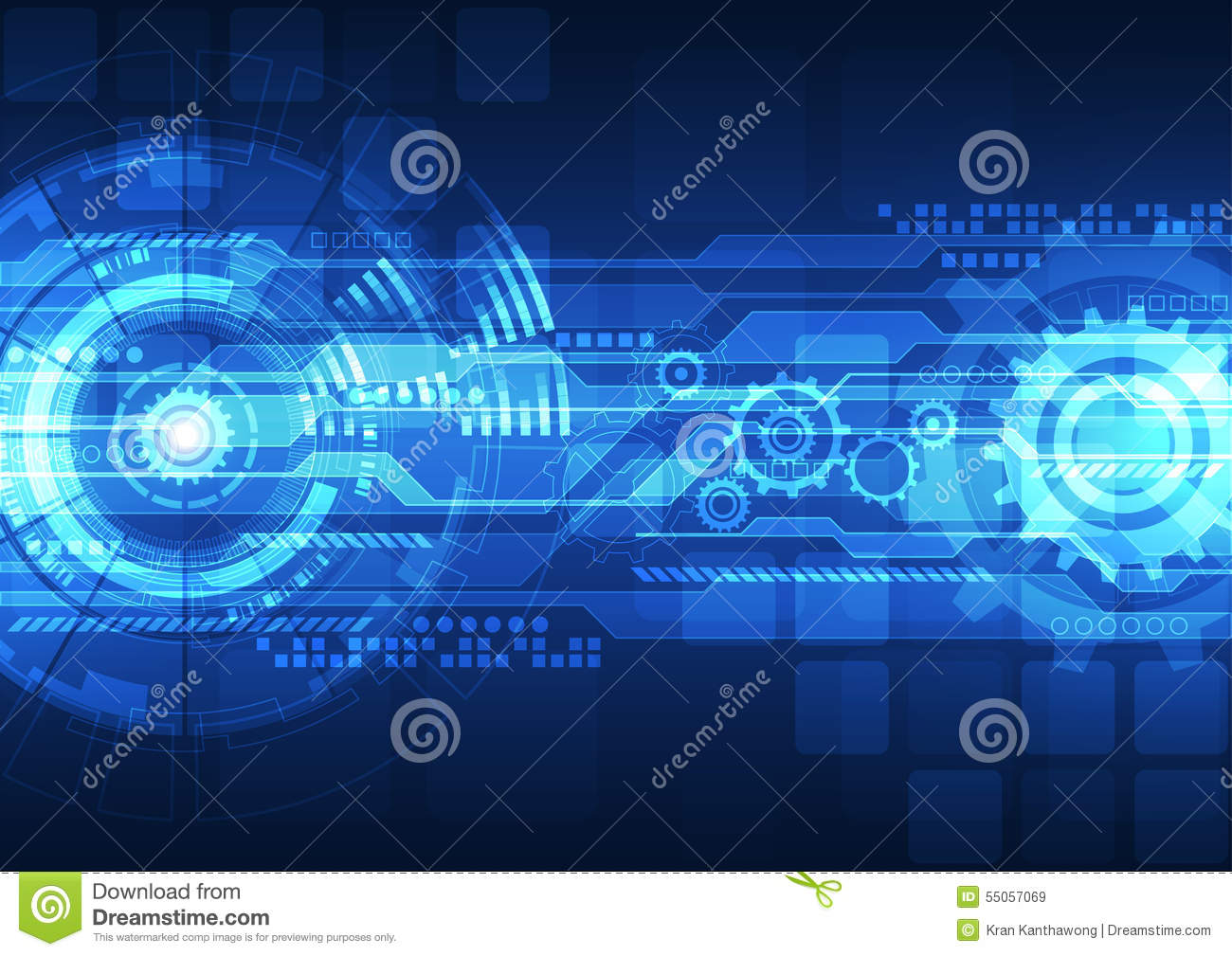 Beautiful Animal Pictures Wallpaper Vector Digital Technology Concept Abstract Background