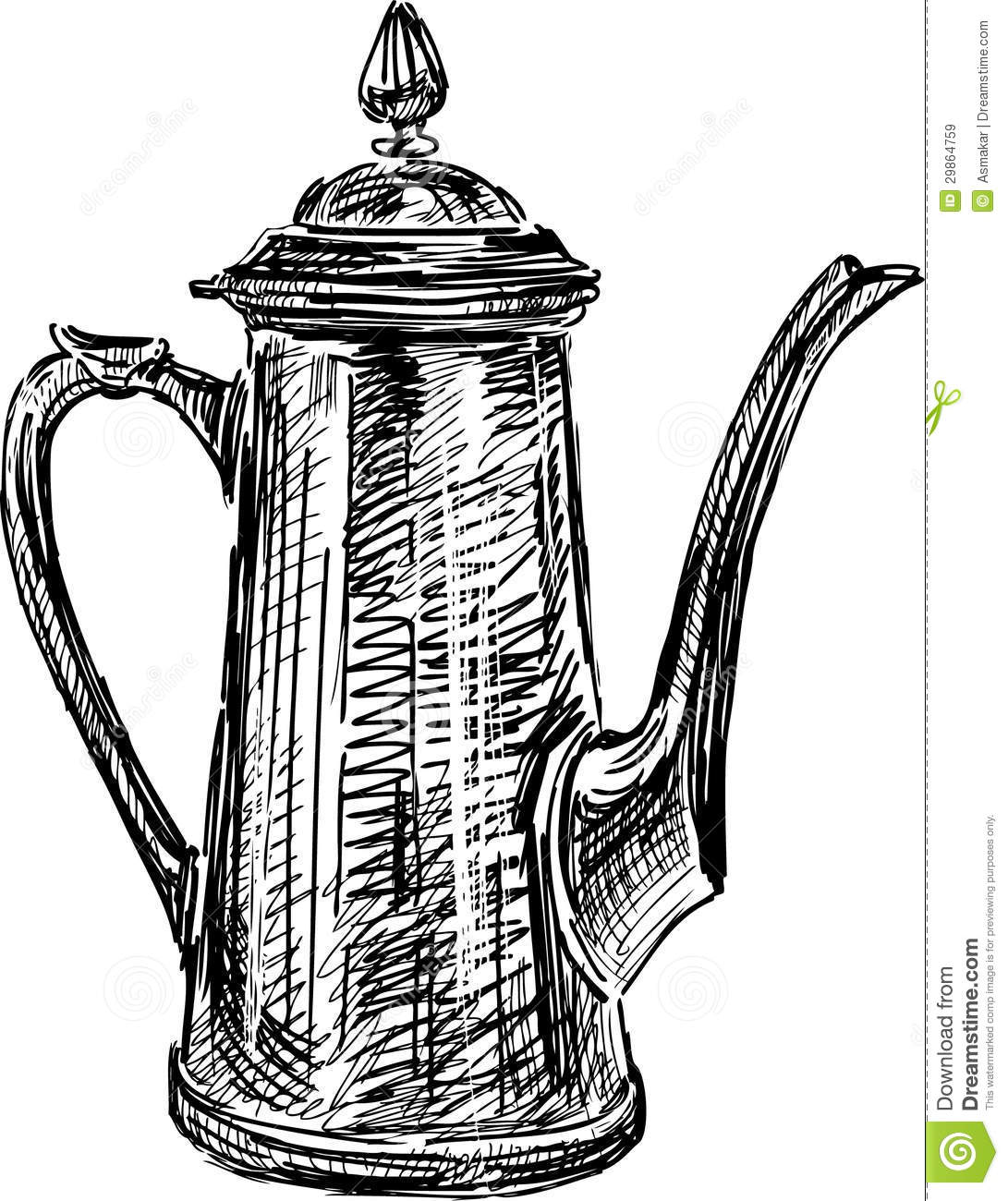 Free Clip Art Coffee Urn Antique Coffee Pot Stock Vector Illustration Of Drawn