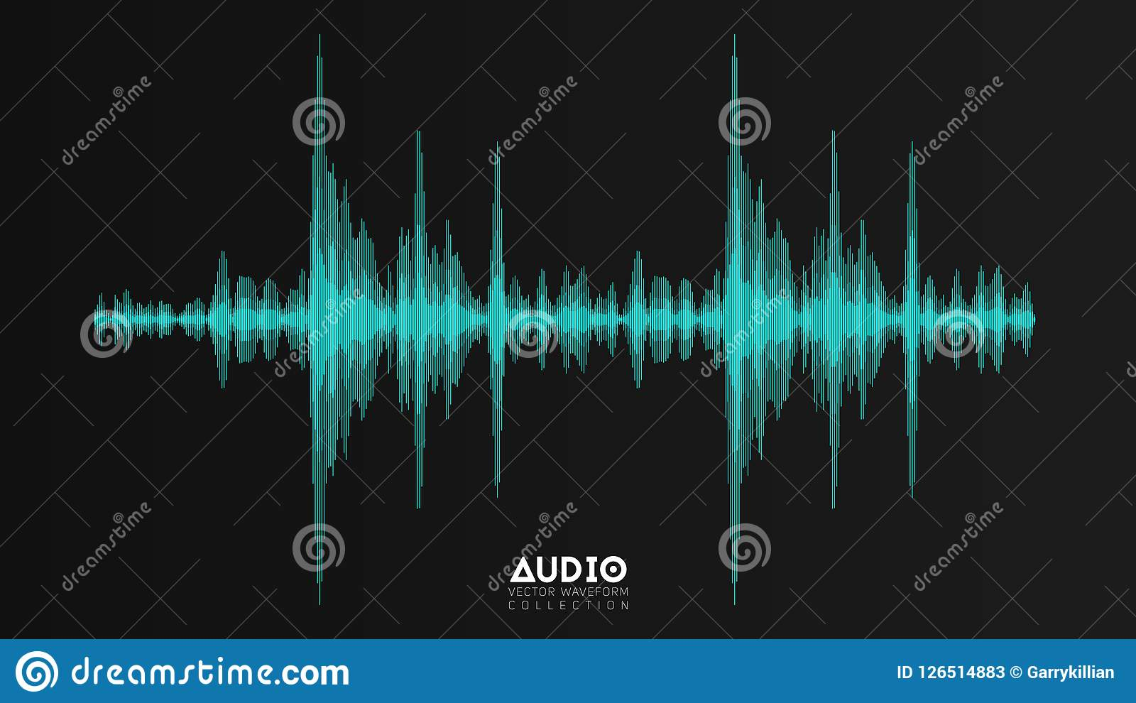 Audio Echo Vector Echo Audio Wavefrom Abstract Music Waves Oscillation