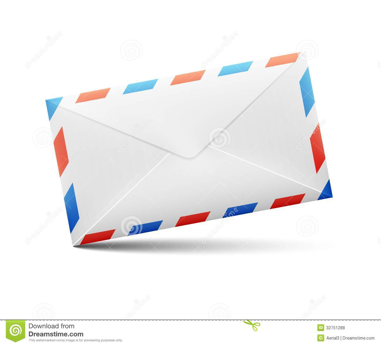 How To Address Envelopes With Attn With Sample Envelope Vector Envelope With Red And Blue Stripes Royalty Free
