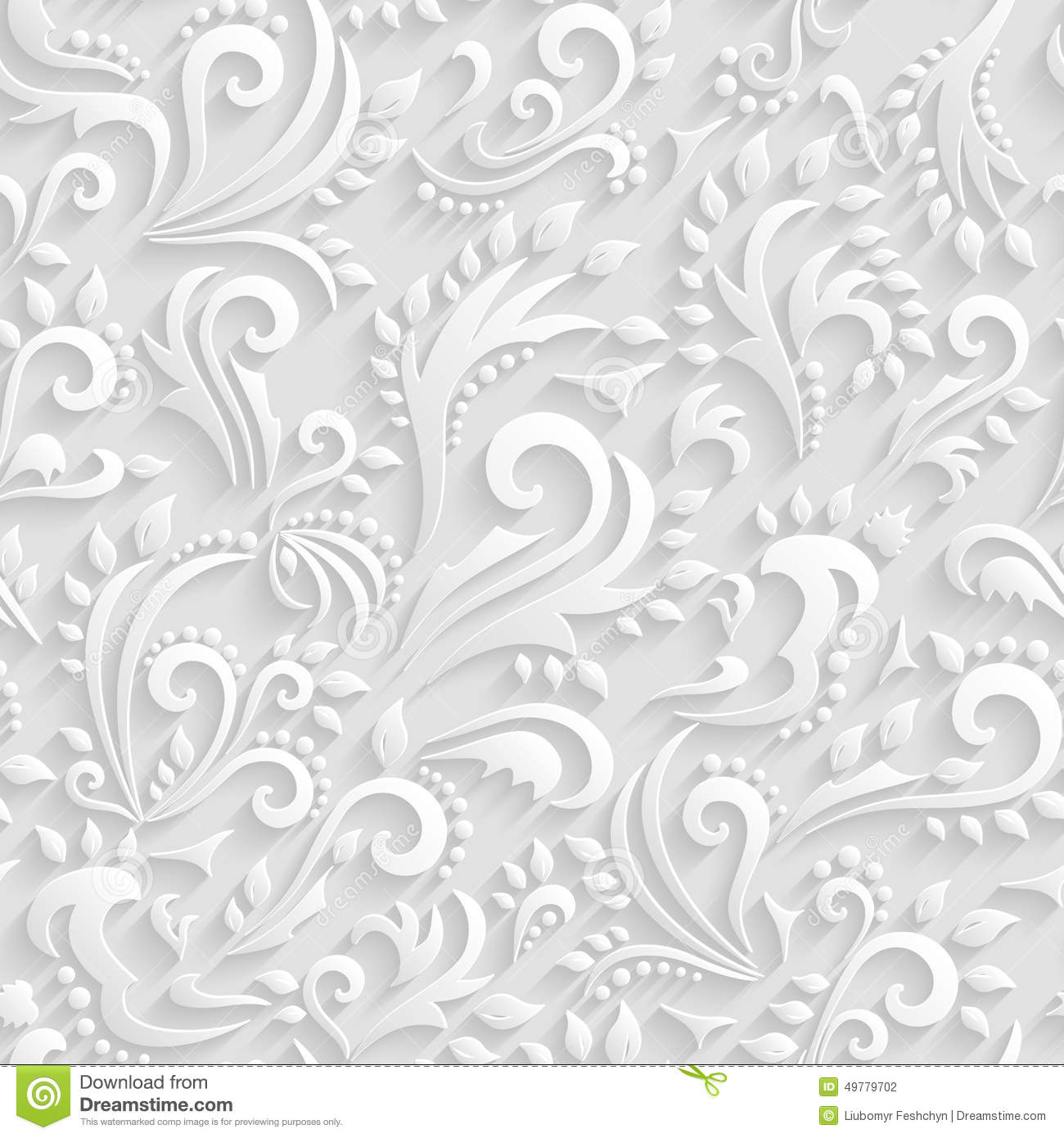 Purple And Black Damask Wallpaper Vector Floral Victorian Seamless Background Origami 3d