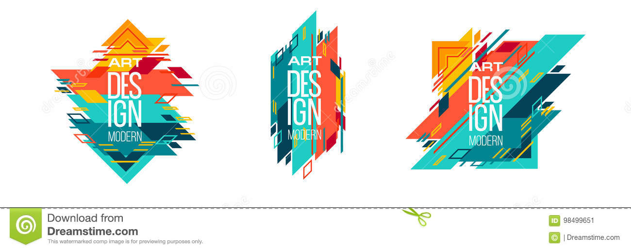 Vector Frame For Text Modern Art Graphics For Hipsters 2 Stock