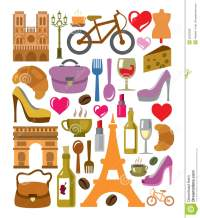 Vector France Icons Set Royalty Free Stock Image - Image ...