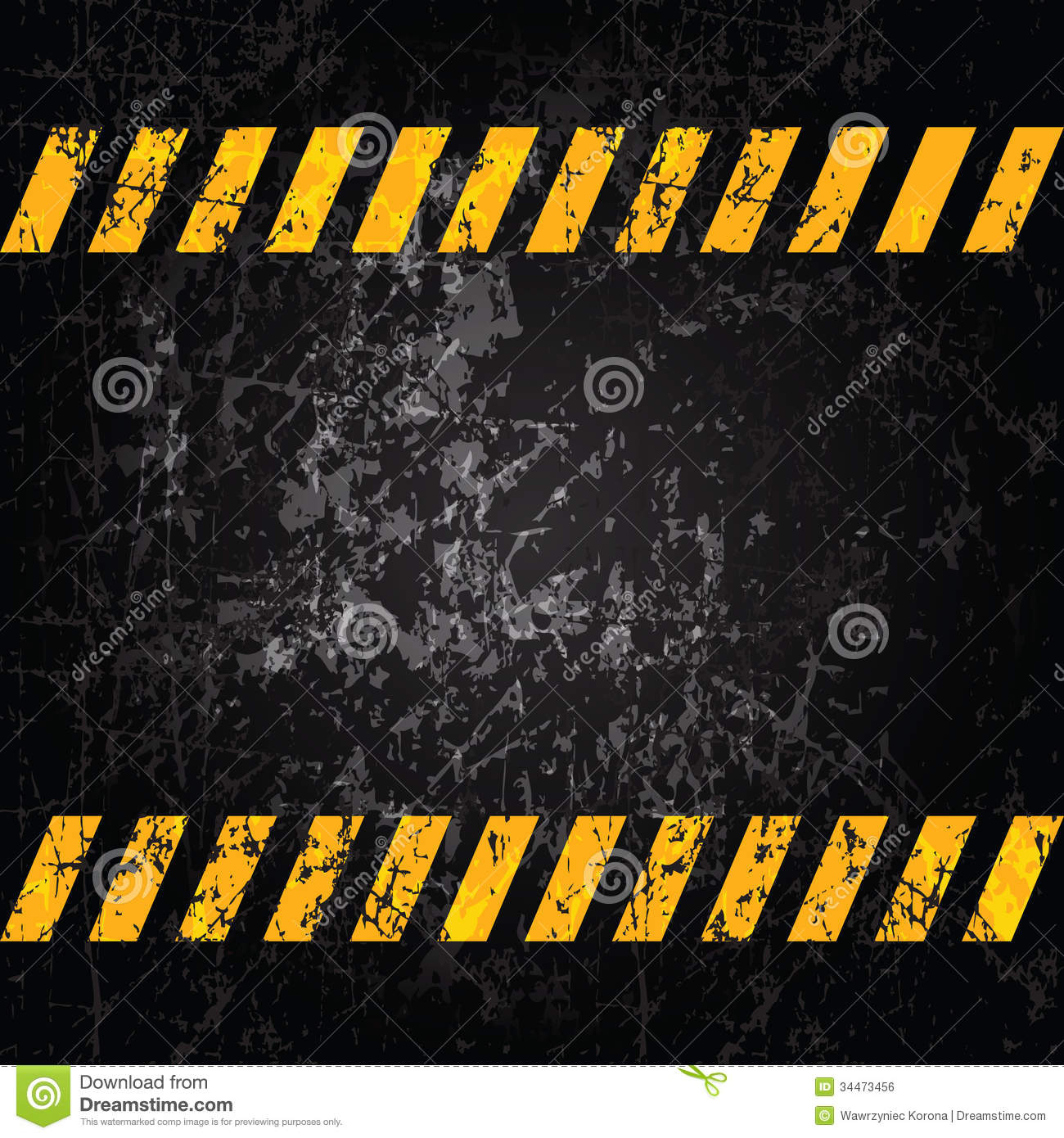 Black Diamond Plate Wallpaper Vector Grunge Background With Caution Stripes Royalty Free