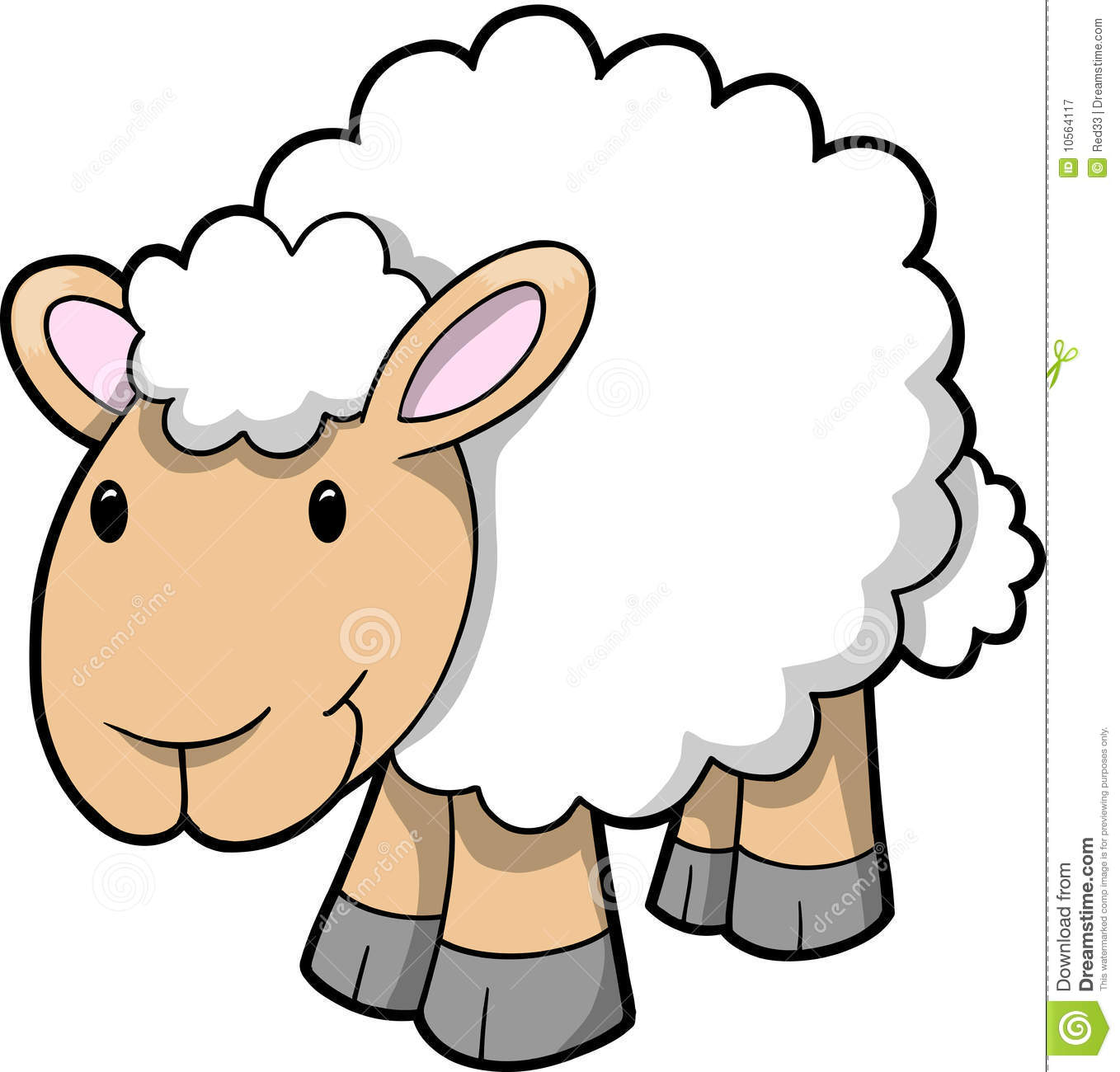Cute Sheep Drawing Tumblr Vector Of Happy Sheep Stock Vector Illustration Of