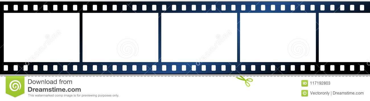 Film Strip On White Background Stock Vector - Illustration of clean