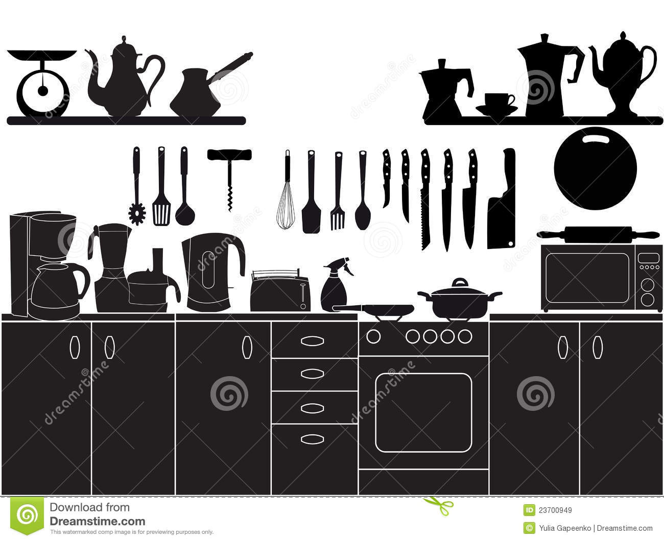 Keuken Mixer Machine Vector Illustration Of Kitchen Tools Royalty Free Stock