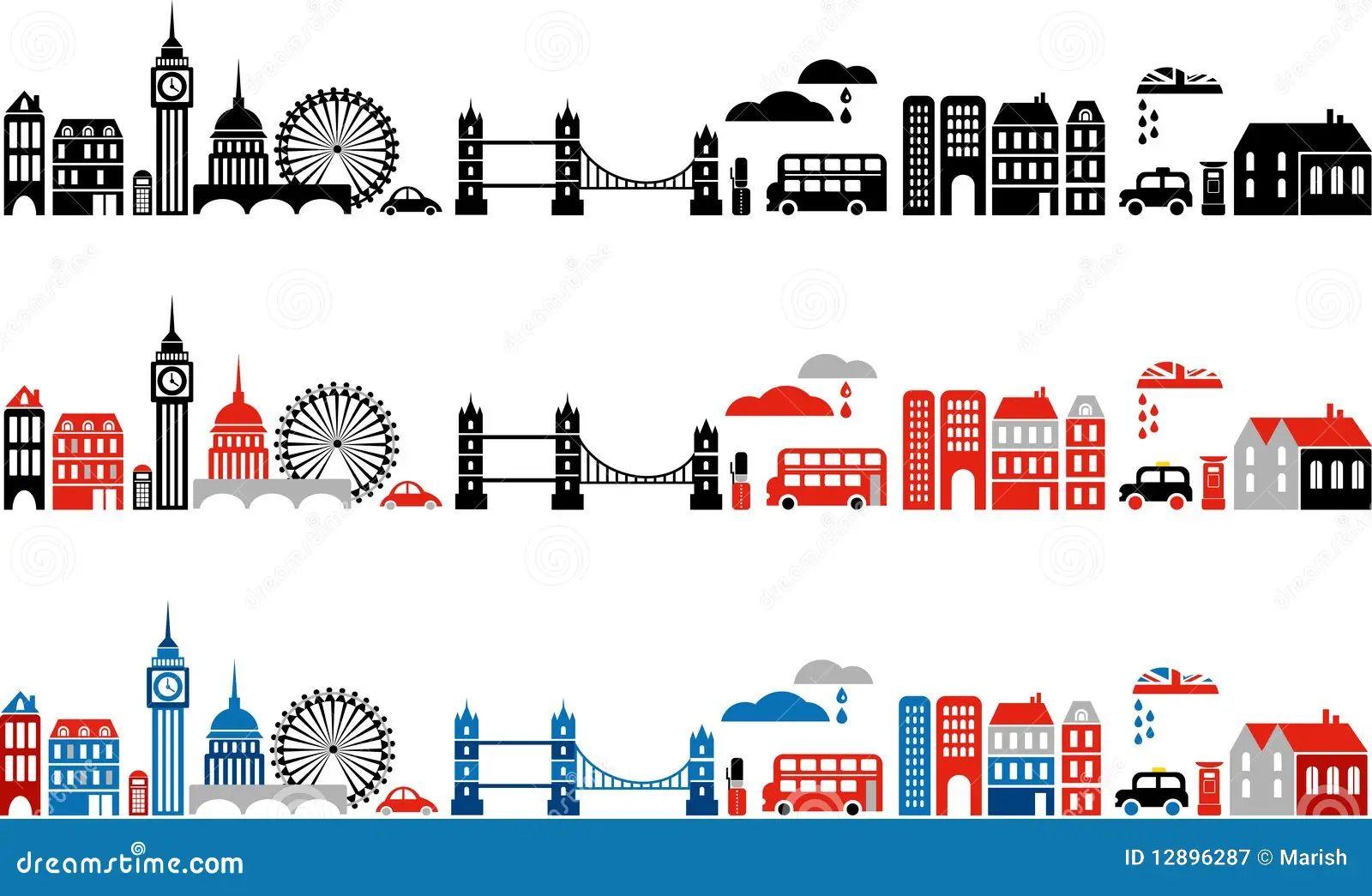 Vector illustration of london city 2 royalty free stock