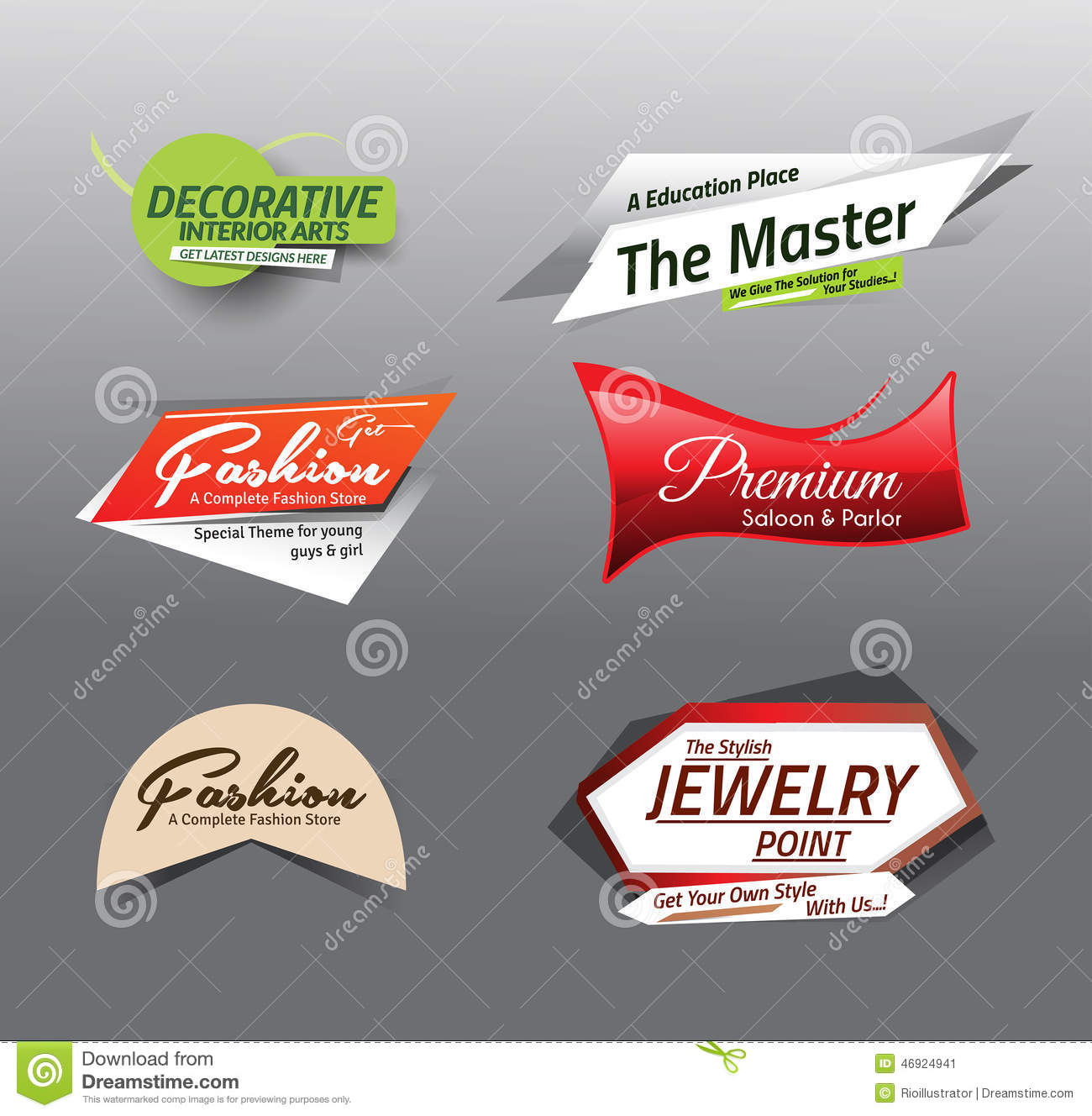 Store Banne Discount Vector Illustration Sale Discount Styled Website Banne Stock