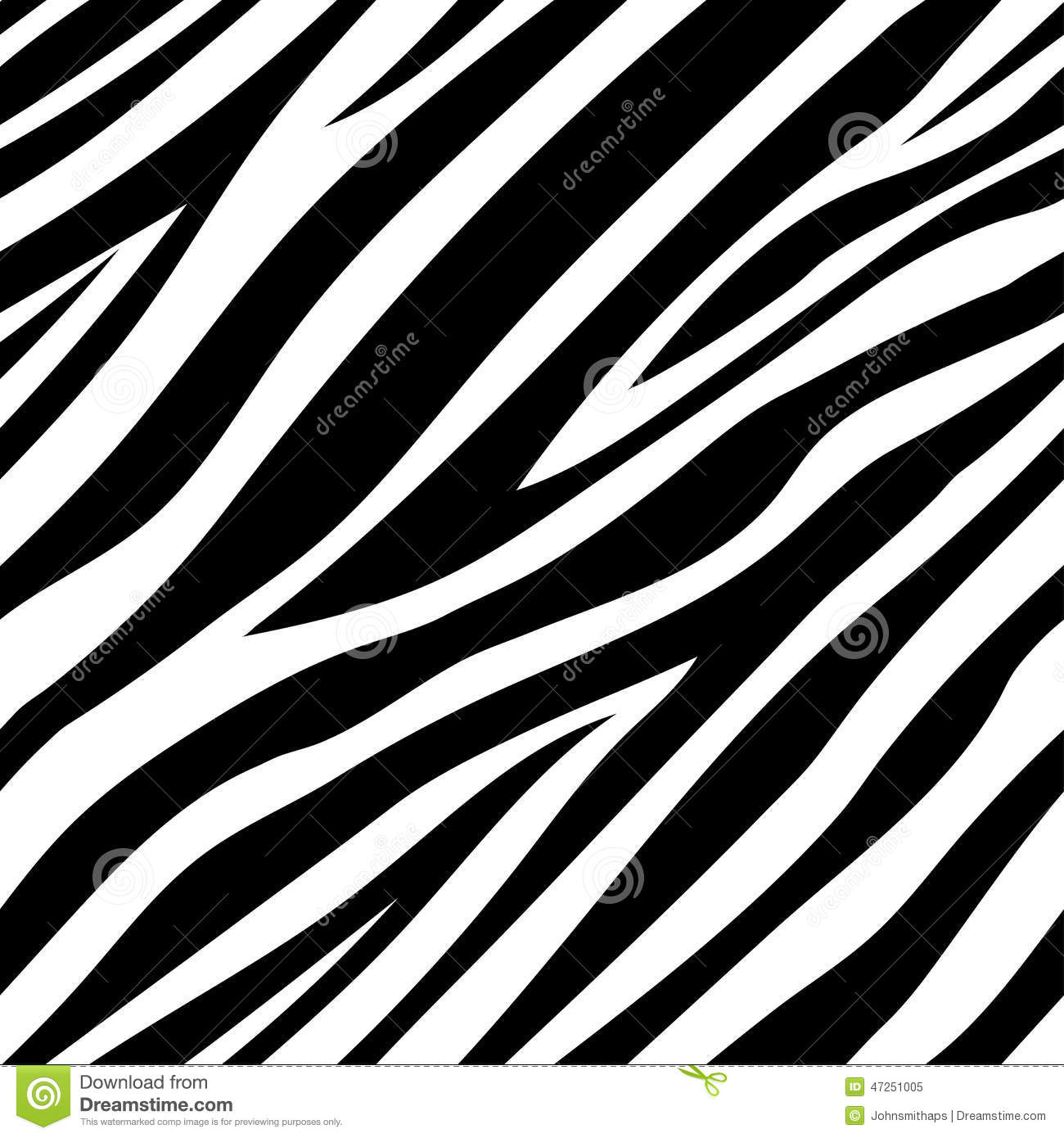 Animal Print Wallpaper Border Vector Illustration Of Seamless Zebra Pattern Stock Vector