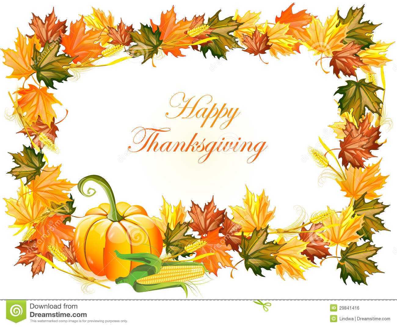Fall Give Thanks Wallpaper Thanksgiving Day Background Royalty Free Stock Image