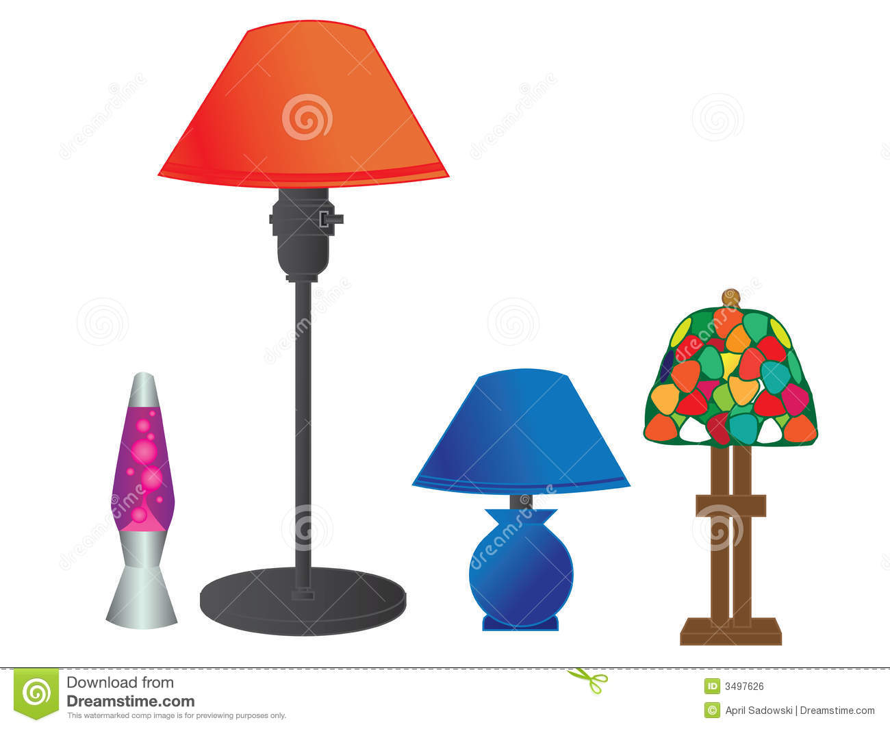 Table Lamp Drawing Image Vector Lamp Series Stock Vector Image Of Electric