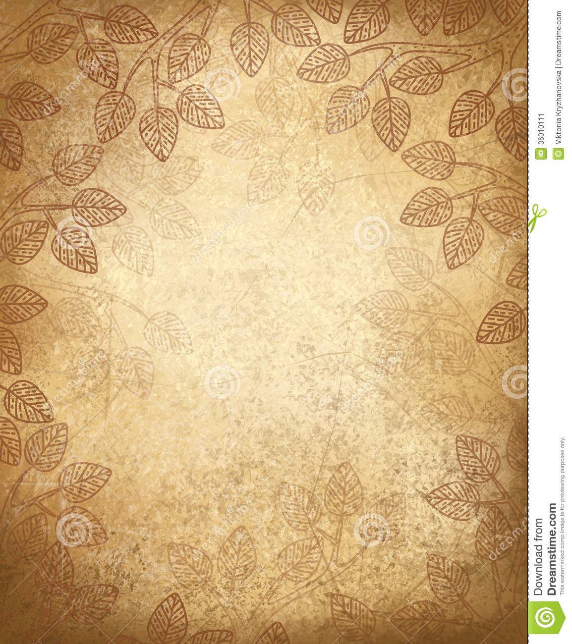 Architecture Wallpaper Fall Vector Leaves Pattern On Old Paper Background Stock Image