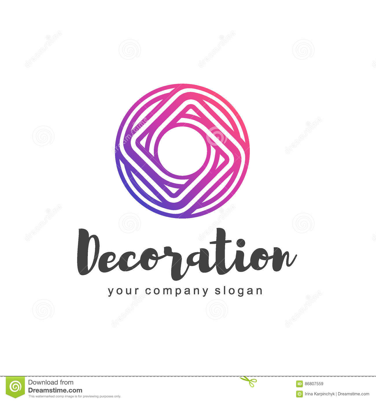 Decoration Logo Vector Logo For Interior Furniture Shops Decor Items And