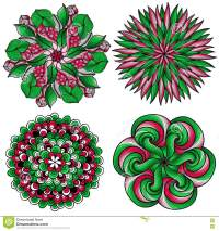 Vector Mandalas. Colored Mandala Set. Oriental Round ...