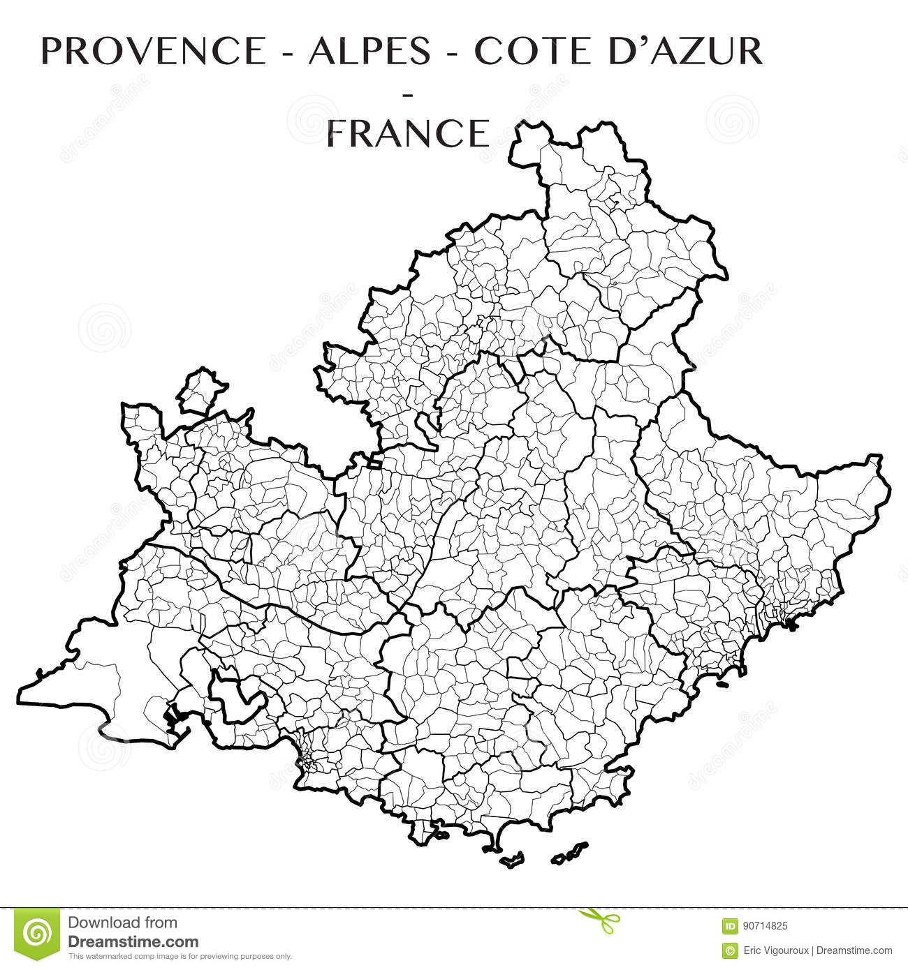 Leboncoin Provence Alpes Cote D Azur Vector Map Of The Region Provence Alpes Cotes Dazur