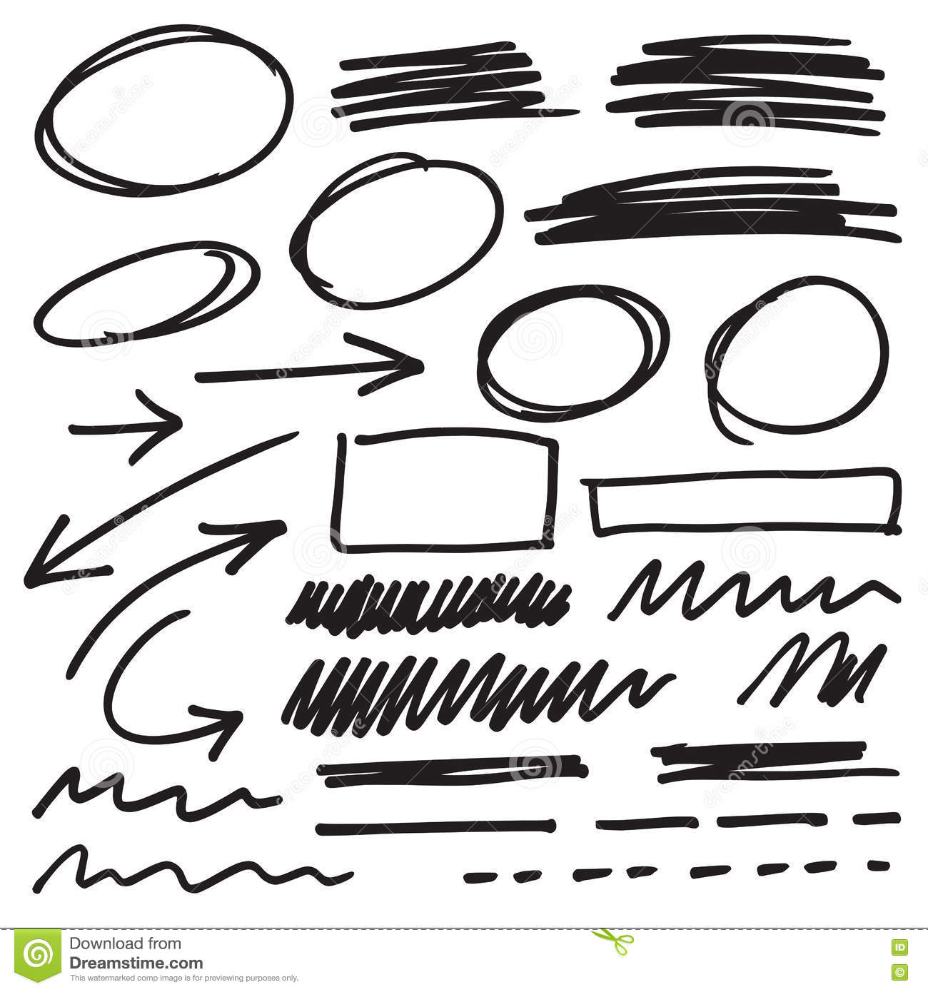 pen and pencil markers collection set vector stock photo
