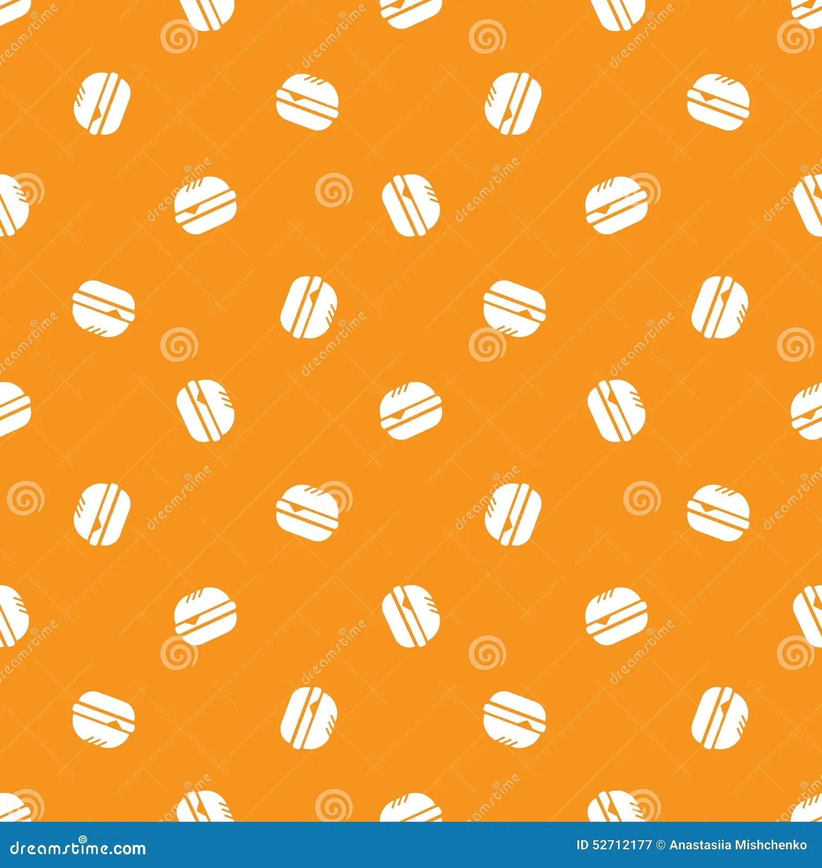 Cute Minimalistic Wallpapers Vector Minimalistic Burger Seamless Pattern Stock Vector