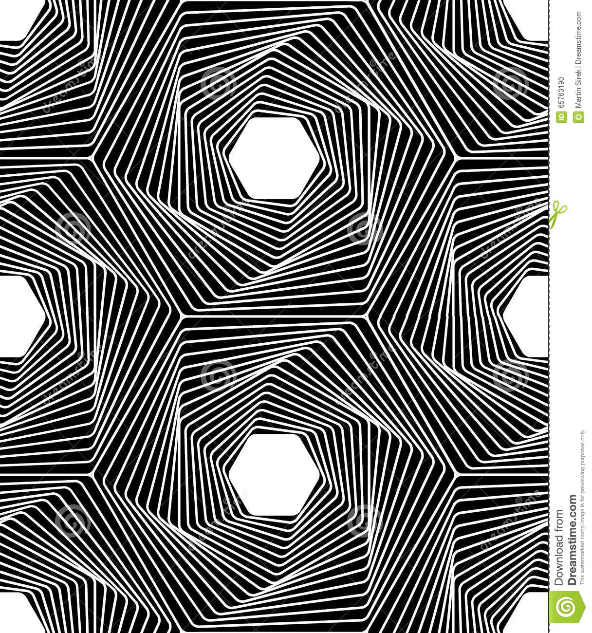 Line White Seamless Black And White Abstract Modern Line Pattern