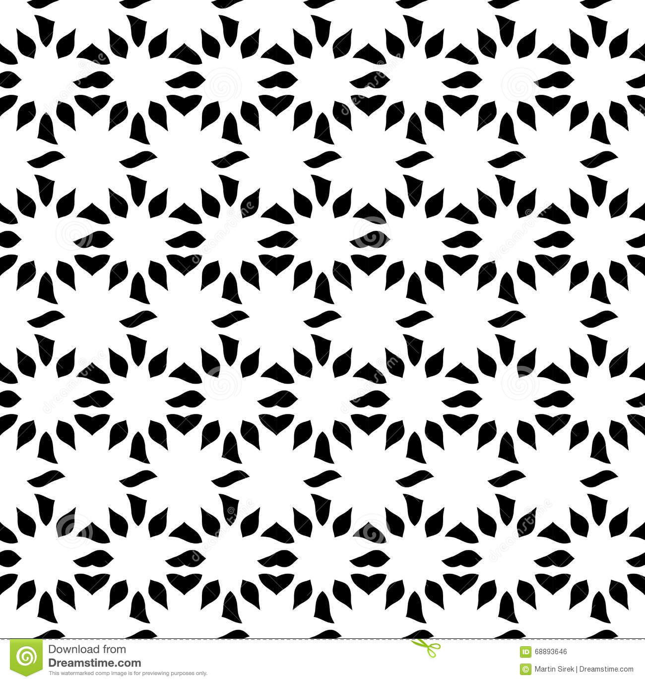 Vector Modern Seamless Sacred Geometry Pattern Flower Of Life Black And White Abstract Illustration 68893646 Megapixl