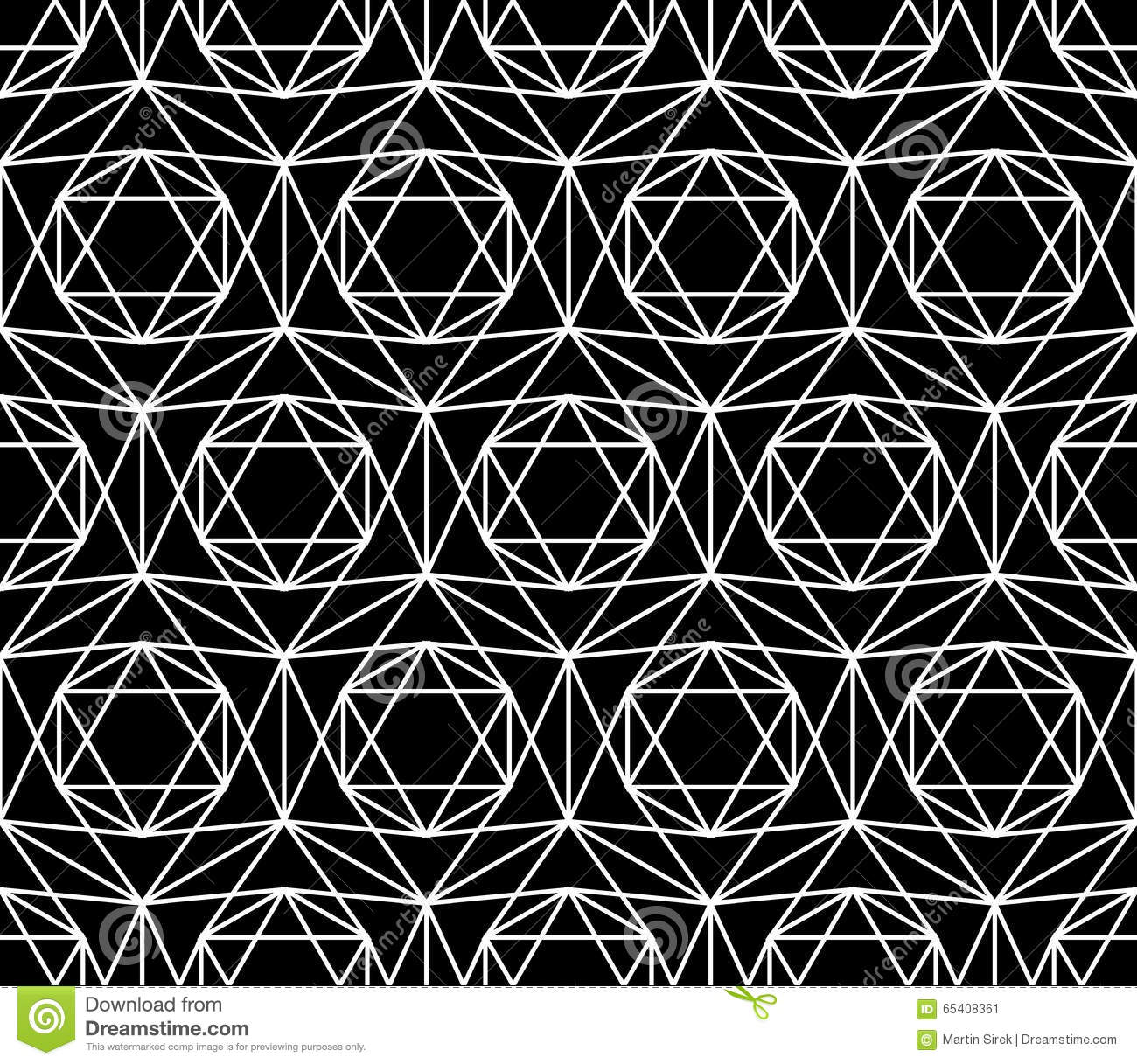 Vector Modern Seamless Sacred Geometry Pattern Star Black And White Abstract Illustration 65408361 Megapixl