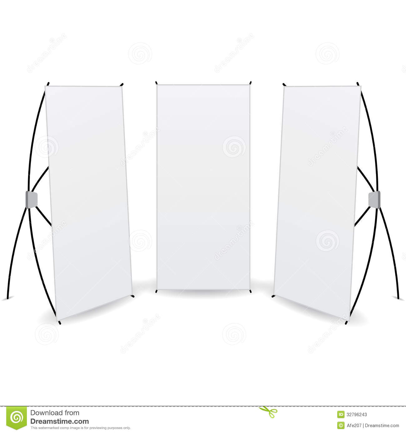 Store Banne 6 X 3.5 M Vector Pack Banner X Stands Display Stock Photos Image