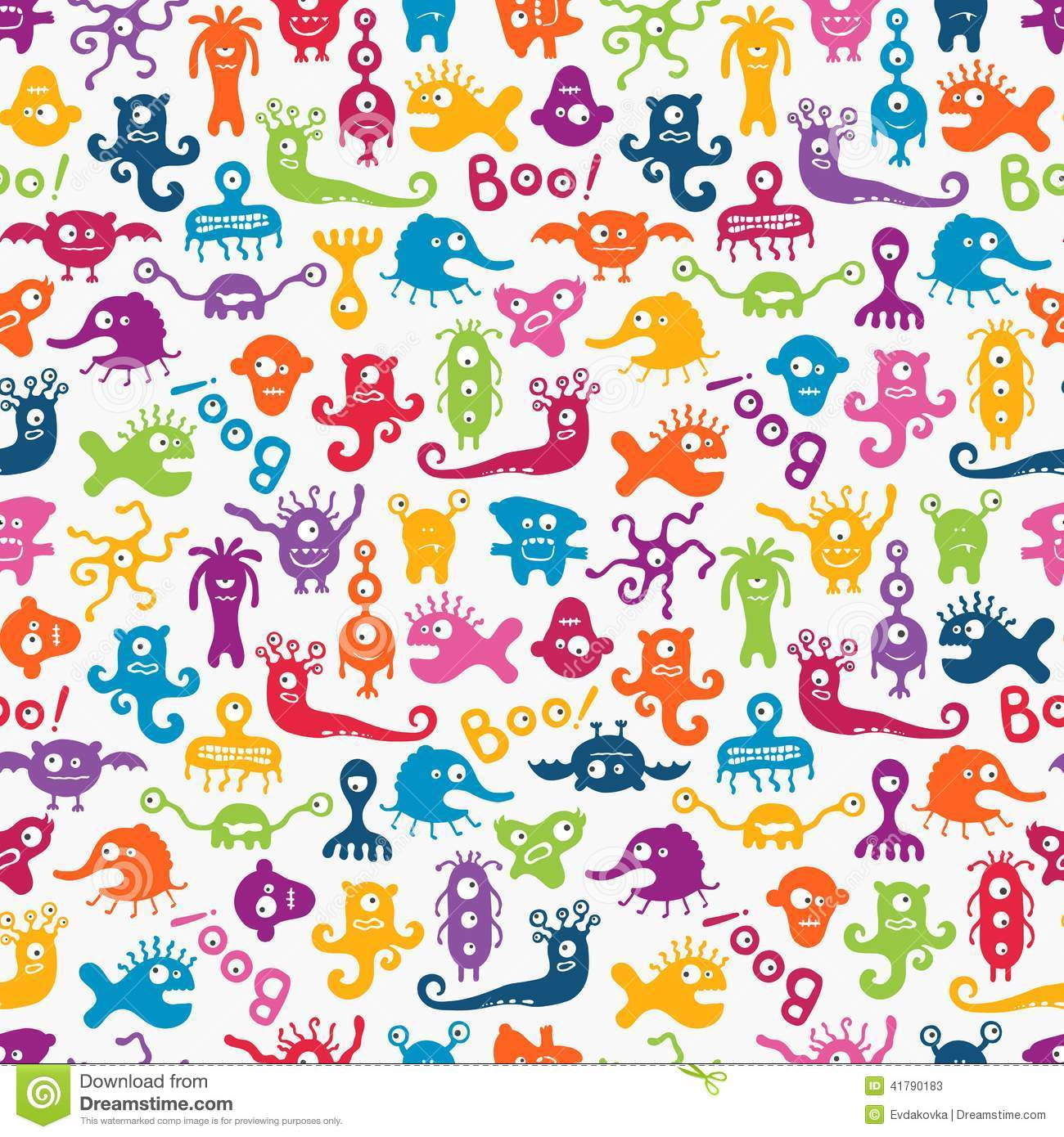 Wallpaper Monster Inc 3d Vector Seamless Pattern With Cute Baby Monsters Stock