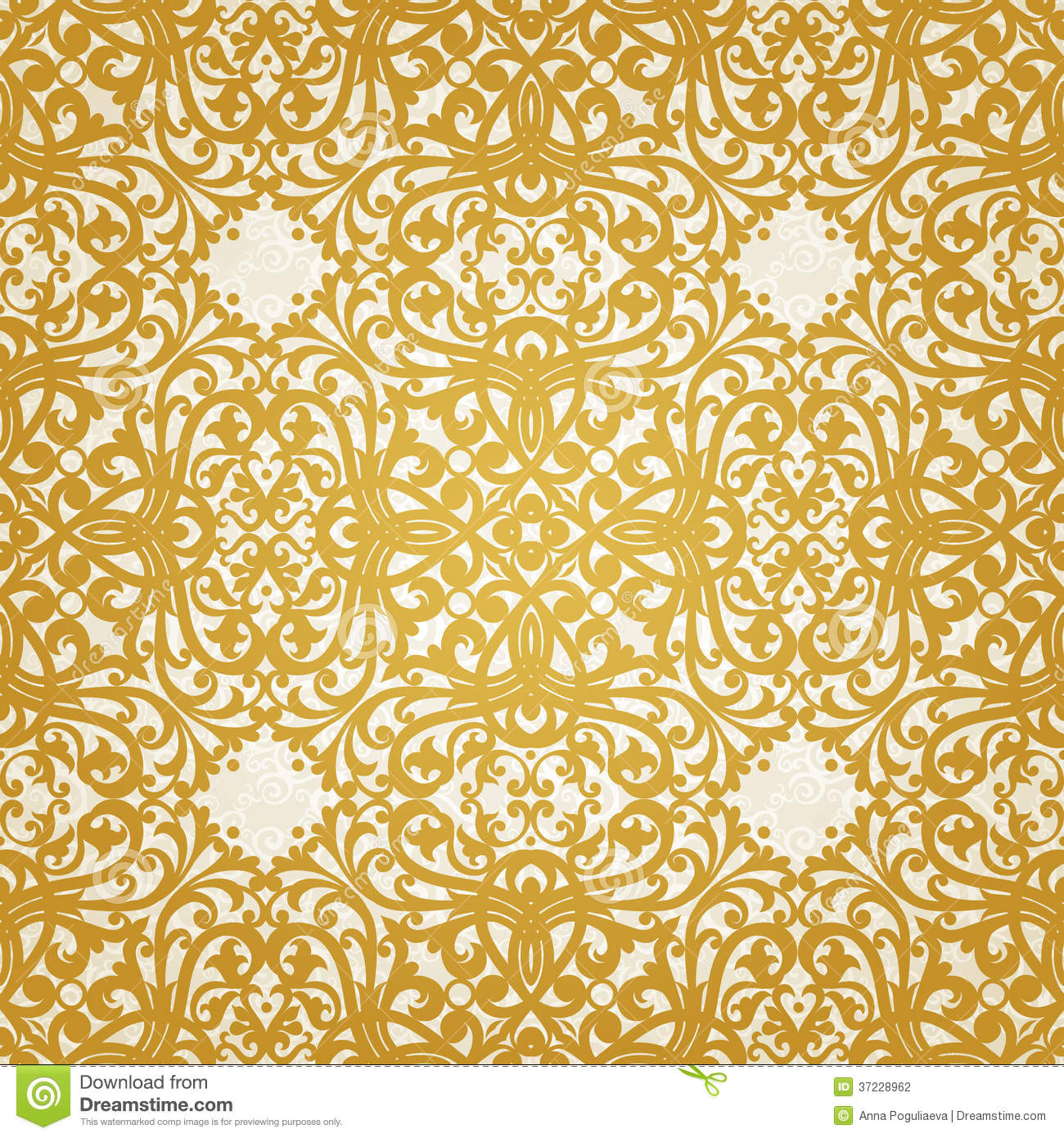 As Royal Decor 3d Wallpaper Vector Seamless Pattern With Swirls And Floral Motifs In