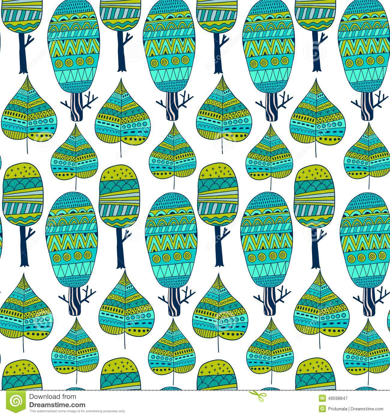 Pixel Forest Wallpaper Cute Vector Seamless Pattern Tribal Leaf And Trees Tribal