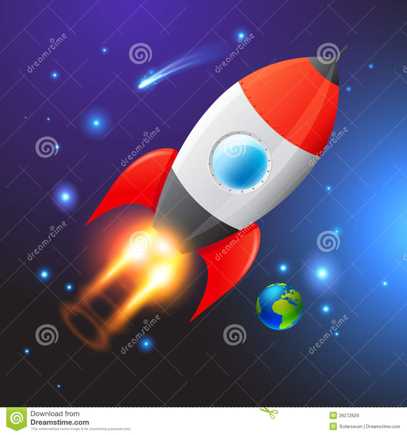 Cute Modern Wallpapers Vector Space Rocket Royalty Free Stock Images Image