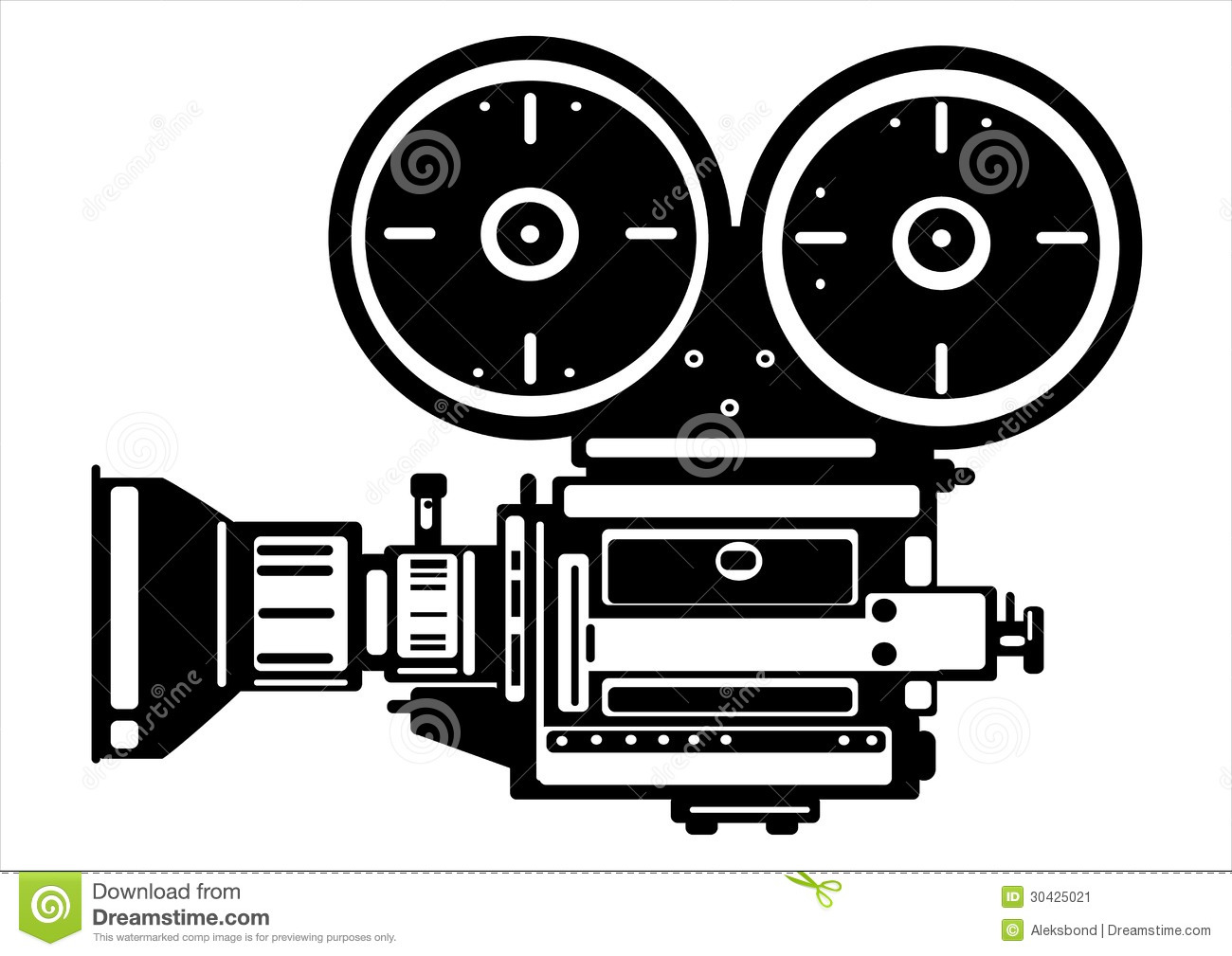 Tisch School Of The Arts Board Of Directors Vector Vintage Film Camera Isolated On White Stock Vector