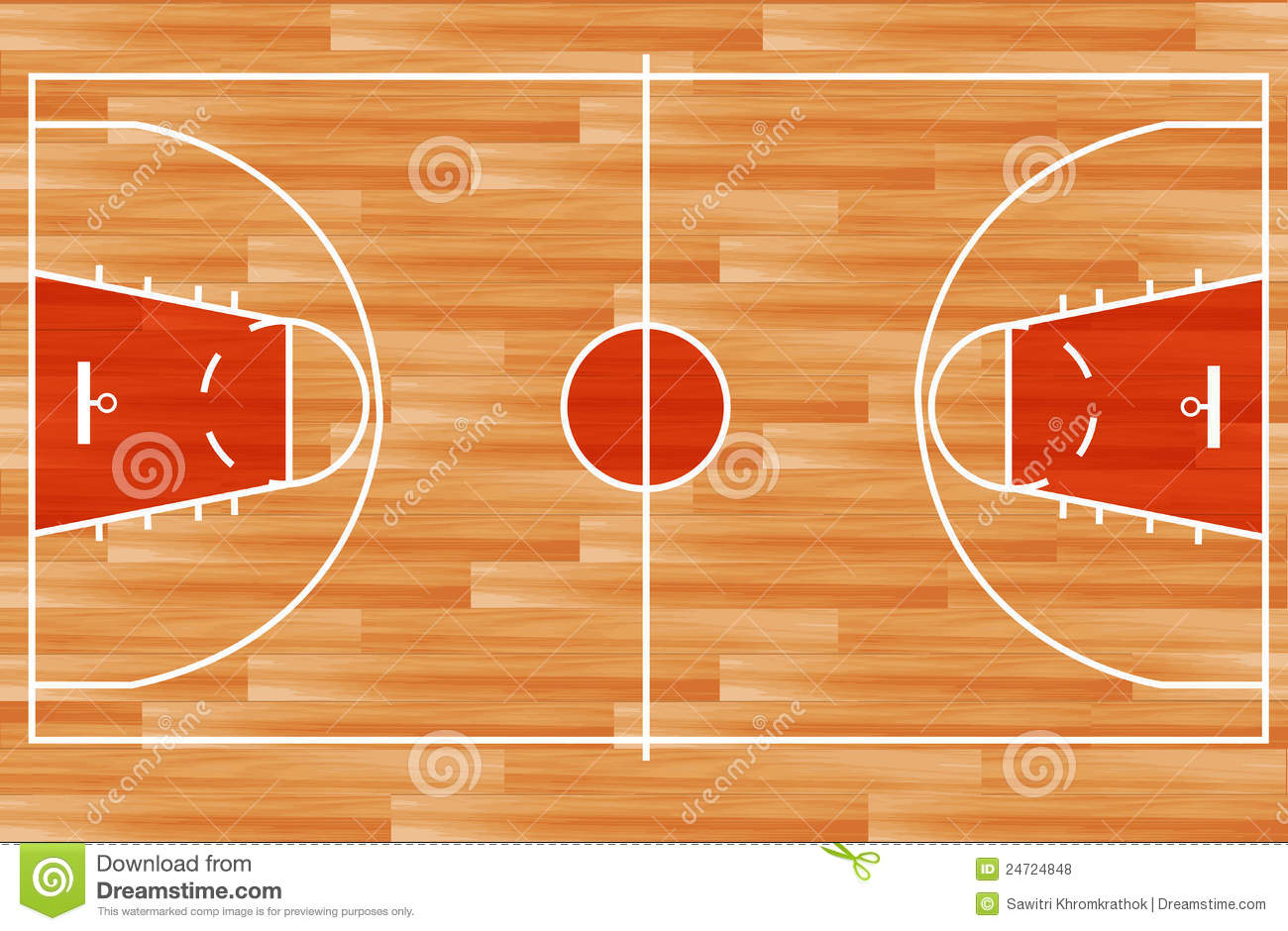 Plan En Ligne 2d Vector Wooden Basketball Court Royalty Free Stock Photos