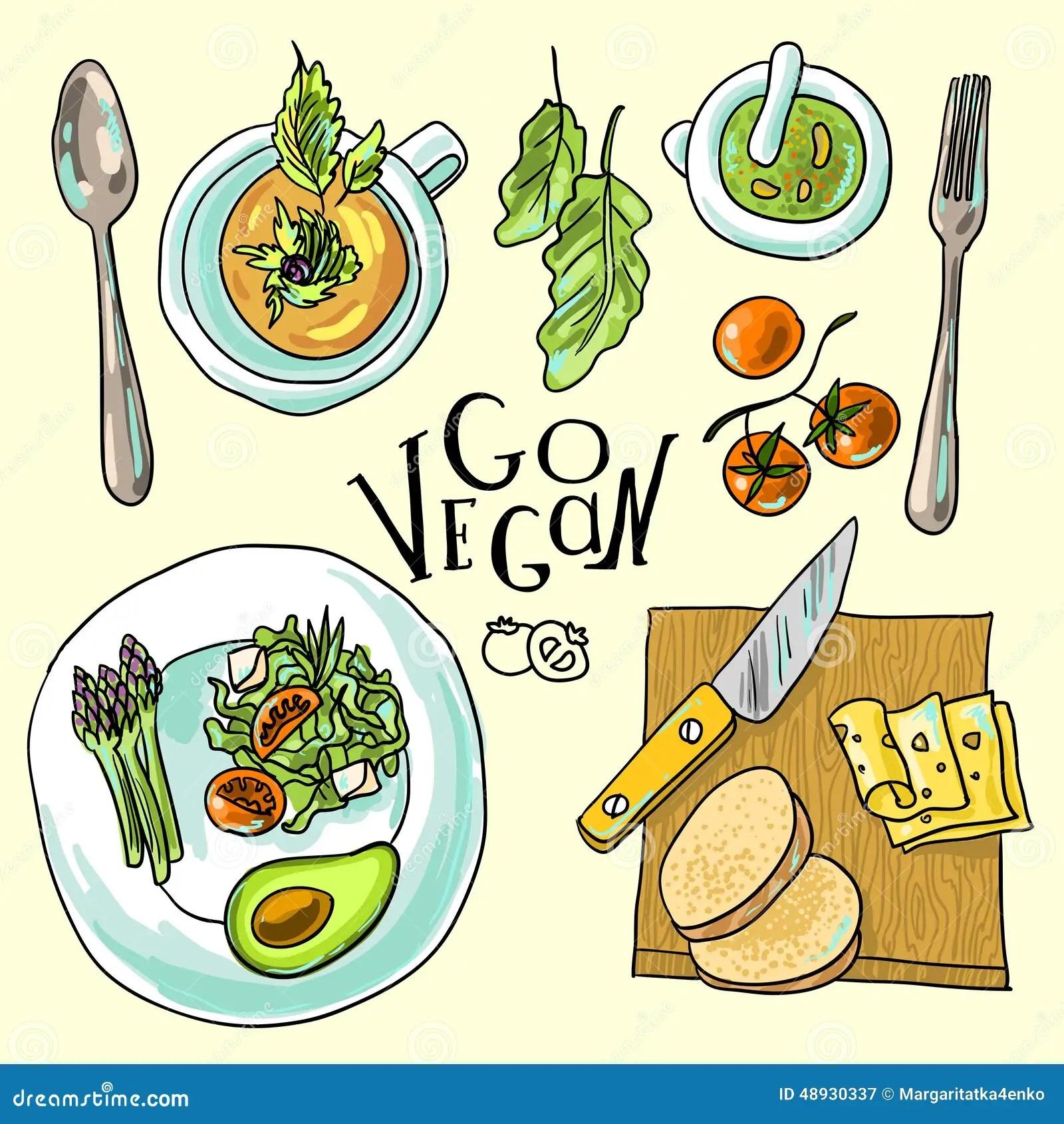 3d Wallpaper Gyro Vegetarian Food Illustration